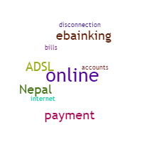Which banks of Nepal allows to pay ADSL bills online?