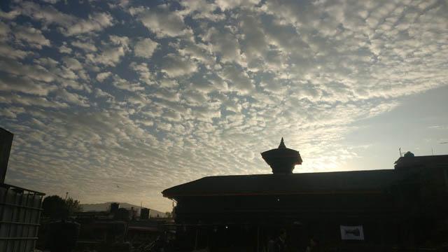 Bhaktapur Durbar Square sky today