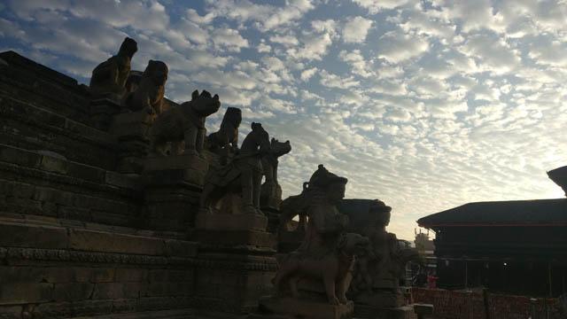 Bhaktapur Durbar Square templ today